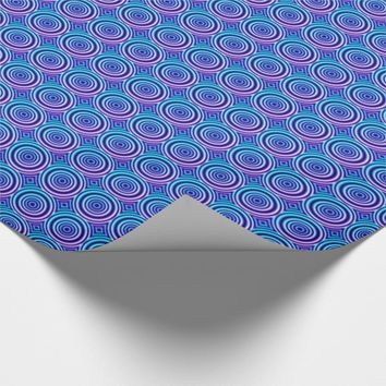 Radial Circles Tiled Pattern Gift Wrapping Paper