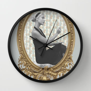 Venus and Her Mirror Wall Clock by Alayna Hanson