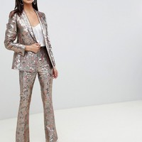 ASOS DESIGN blazer In golden jacquard | ASOS