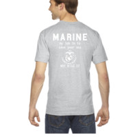 my jop is save your ass not kiss it marine corp - V-Neck T-shirt