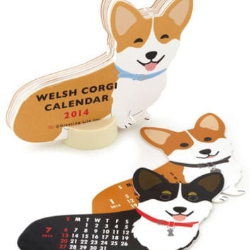 Year of the Critter 2014 Calendar in Corgi | Mod Retro Vintage Desk Accessories | ModCloth.com