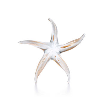 Tiffany & Co. - Elsa Peretti® Starfish in handblown Venetian glass with 24k gold leaf.
