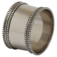 Silver Band Napkin Rings, Set of 4, Napkin Rings & Holders