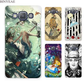 BINYEAE Tattooed Alice in Wonderland Clear Transparent Cell Phone Case Cover for Samsung Galaxy A3 A5 A7 A8 A9 2016 2017