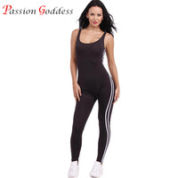 New Backless Bodycon Bodysuit Fitness Playsuit Sexy Stripe Women Jumpsuit Tank Rompers Macacao Womens Jumpsuit Combinaison Femme