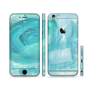 The Subtle Teal Watercolor Sectioned Skin Series for the Apple iPhone 6s Plus