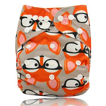 Baby Cloth Diapers Reusable Nappies Character Pattern Baby Care Pants Waterproof Pocket Cloth Diaper Baby Shower Gifts