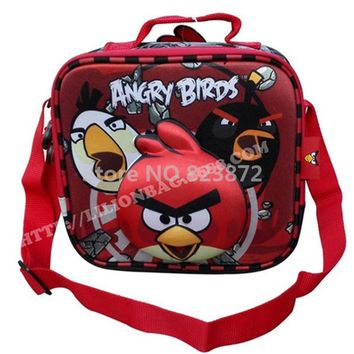 3D Cartoon Birds Thermal Lunch Bag Boys Messenger Lunch Box Bags for Kids School Children Picnic Lunchbox Food Bag Lunchbag