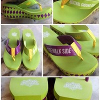 Fleurty Girl - Everything New Orleans - Fleurty Girl Exclusive - Sidewalk Side/Neutral Ground Side Wedges by Volatile