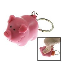 Ned the Naughty Pig Keychain [Toy]