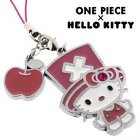 Sanrio Hello Kitty x One Piece Metal Cell Phone Charm (Hello Kitty)