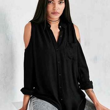 Silence + Noise Cold Shoulder Button-Down Shirt - Urban Outfitters
