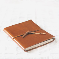 Rust leather journal (large, A5) - handbound leather book
