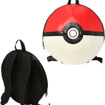 "Licensed cool Pokemon GO Pokeball Poke Ball 16"" Round Backpack School Book Bag Tote Nintendo"