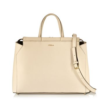 Furla Large Talia Conchiglia Saffiano Leather Satchel