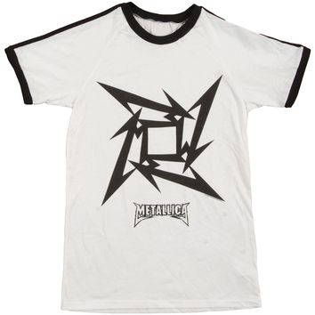 Metallica Men's  M Star Soccer  Jersey White