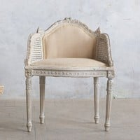 Amazing Cane Back Banquette Chair