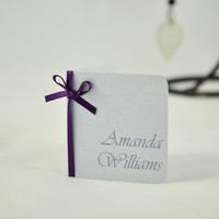 Wedding Place Card - Silver Wedding Place Card - Large Print Wedding Place cards - Mini Place Cards