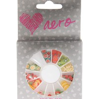 Aeropostale  Womens Fruit Nail Art Set - Green/Red/Yellow