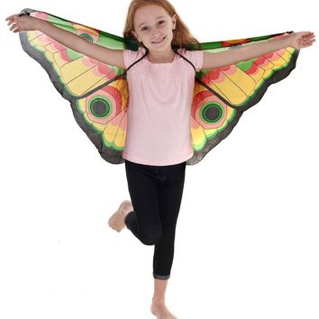 Fairy Wings Halloween Dreamy Monarch Butterfly Girls Dress Fantasy Wings Costume For Kids Christmas Carnival Costume