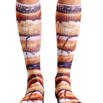 Stacked Donuts Sport Socks