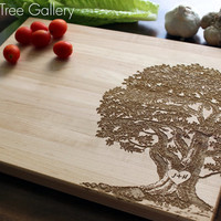 Personalized Cutting Board, Wedding Cutting Board -10 x 13 Inches - Established Family Signs Christmas, Wedding Gift Shown in Hard Maple
