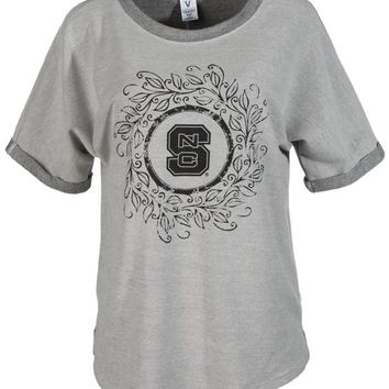Official NCAA North Carolina State University Wolfpack NC State NCSU Women's Unisex Tri- Blend Tee.