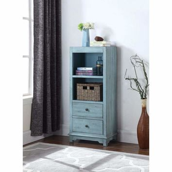 Well-Made Wooden  Accent Tall Cabinet, Blue By Coaster