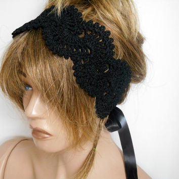 Black Hair Band, Handmade Headband Knitted Hair Band, Headband Crochet, Handmade, Hair Accessories, Headband, Hair Band, Bandana, Gift Ideas