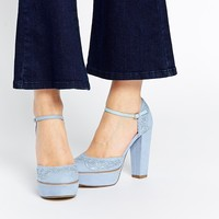 New Look Laser Cut Heeled Shoes