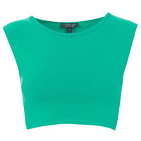 Basic Sleeveless Crop Top - Bralets & Cropped Tops - Jersey Tops - Clothing - Topshop USA