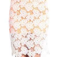Lace Skirt W/ Contrast Lining