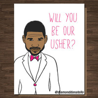 Funny Wedding Usher Best Man Card Pop Culture Will you be Our Usher?