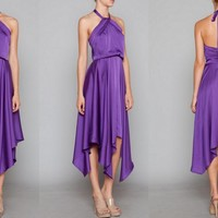 Purple Lotus Maxi Dress