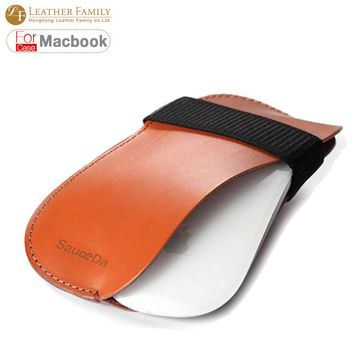 2017 New Arrival For Magic Mouse Wireless pouch Protective Sleeve pu leather for bluetooth mouse liner bag mouse case