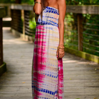 Hippie Empire Maxi, Fuchsia