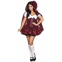 Sexy Gothic Red Riding Hood Halloween Costume