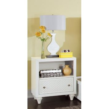 My Home Amanda 1 Drawer Nightstand In Bright White