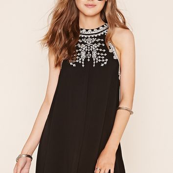 Geo Embroidered Tent Dress