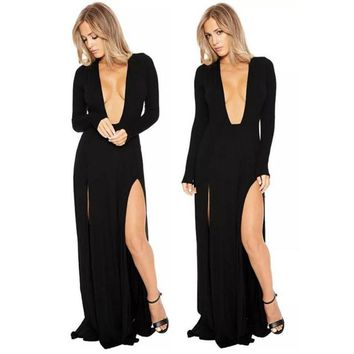 Sexy, Long Sleeve Evening Gown