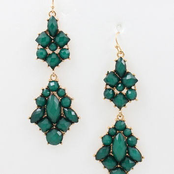 Royale Earrings- Emerald