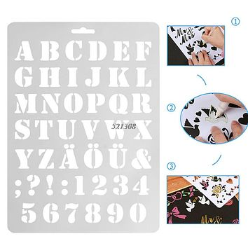 Letter Alphabet Number Layering Stencils Wall Painting Scrap booking Stamps Album