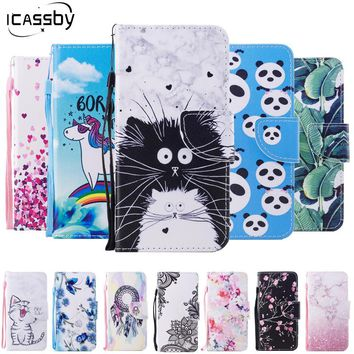 Leather Wallet Phone Case - Flip Case With Crazy Cats and Other Designs
