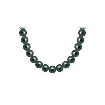 Akoya Cultured Pearl Necklace : 14K White Gold  10 MM