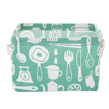 Organizers / Bags - Free Shipping - Cute Canvas Storage Bins / Collapsible - Kitchen