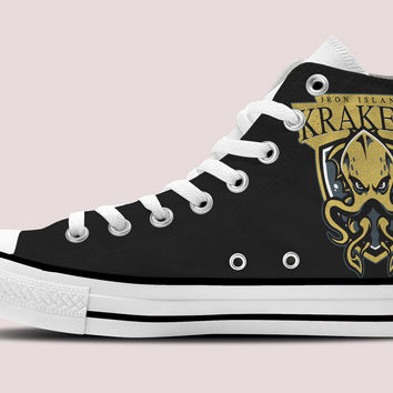 Game Of Thrones Krakens Hi-Top Black Unisex Trainers