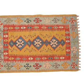 "Turkish Kilim Turkish 3' 8"" X 5' 5"" Handmade Rug"