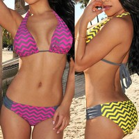 Bandage Swimwear  Bikini Set Padded Push Up Bikini Swimsuit Lady Swimming Bathing Suit