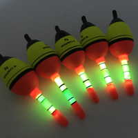 New Arrival!! 5 Piece 5g EVA float + 10pcs Glow stick Night Bobber Fishing Floats Tube Luminous Lighting Foam Floats