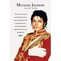 Michael Jackson Loved Quote Mini Poster Mini Poster Print, 16x20